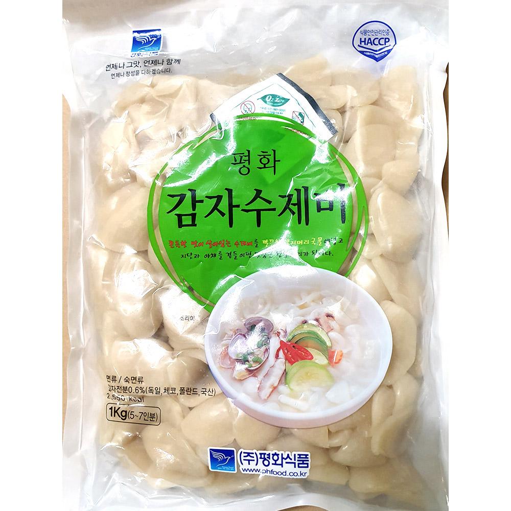 감자수제비(평화 1K) 감자수제비 수제비 즉석식품 간식 분식재료