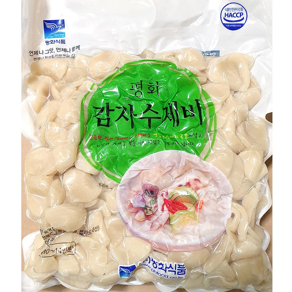감자수제비(평화 2K) 감자수제비 수제비 즉석식품 간식 분식재료