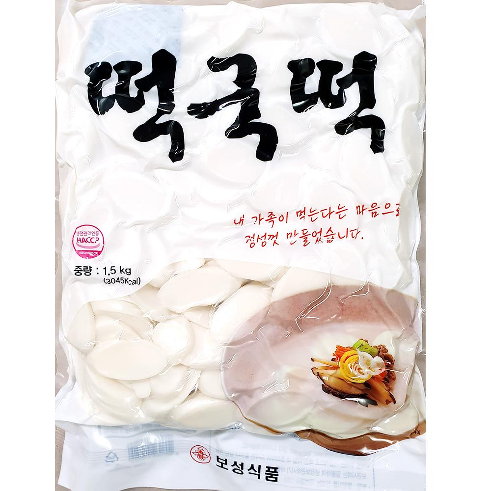 떡국떡(보성 1.5K) 쌀떡국 즉석식품 간식 분식재료 떡국