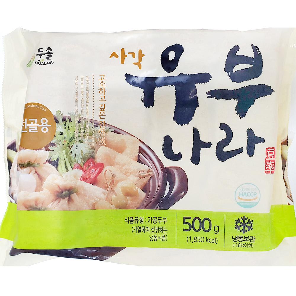 냉동유부(두솔 500g) 초밥유부 유부 분식재료 수산물 냉동유부 두솔유부 유부초밥 초밥재료