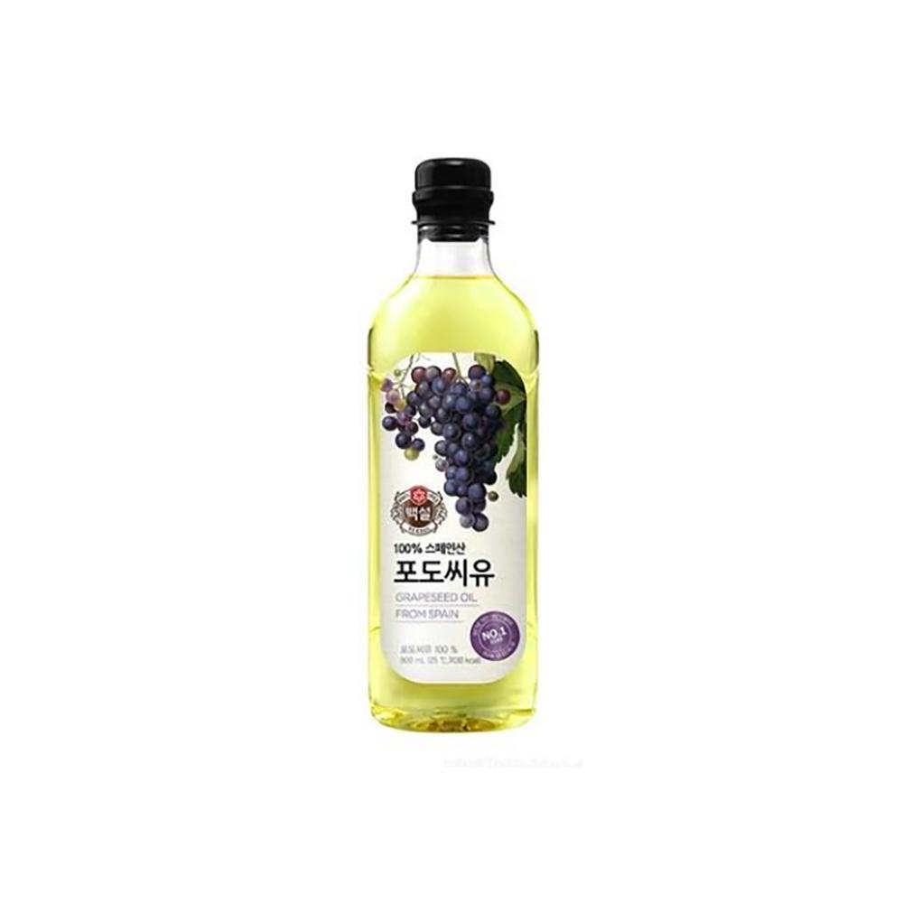 포도씨유(백설 900ml) 포도유 부침 에어프라이어 옥배유 대용량