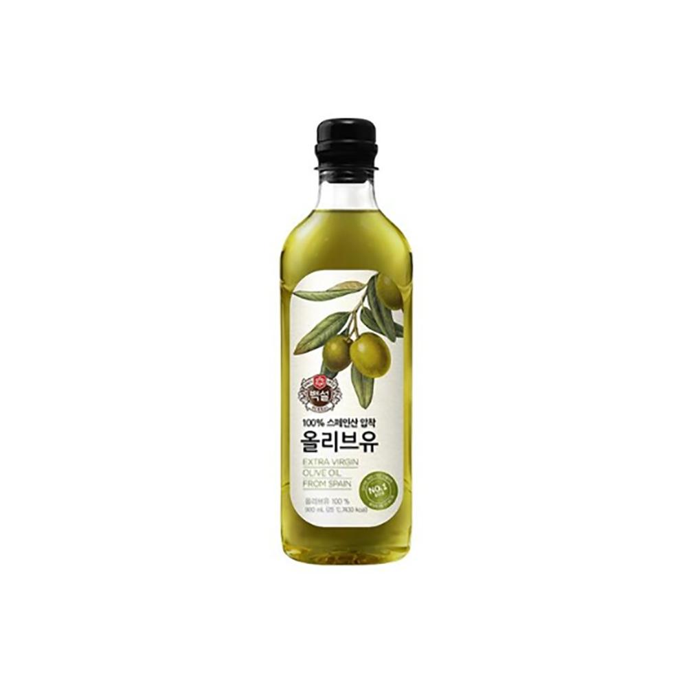 올리브유(백설 900ml) 국산콩 부침 에어프라이어 옥배유 대용량