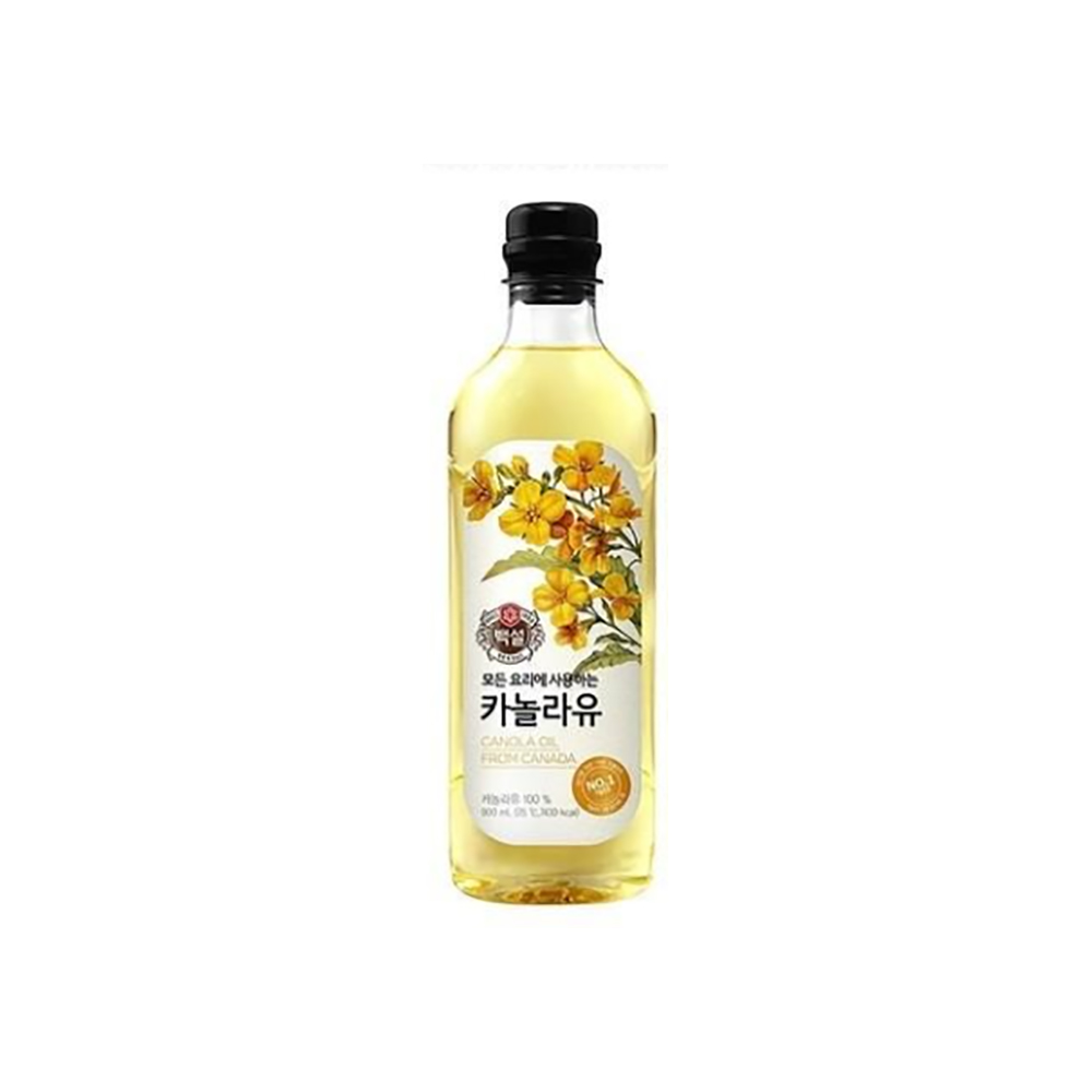 카놀라유(백설 900ml) 국산콩 부침 에어프라이어 옥배유 현미