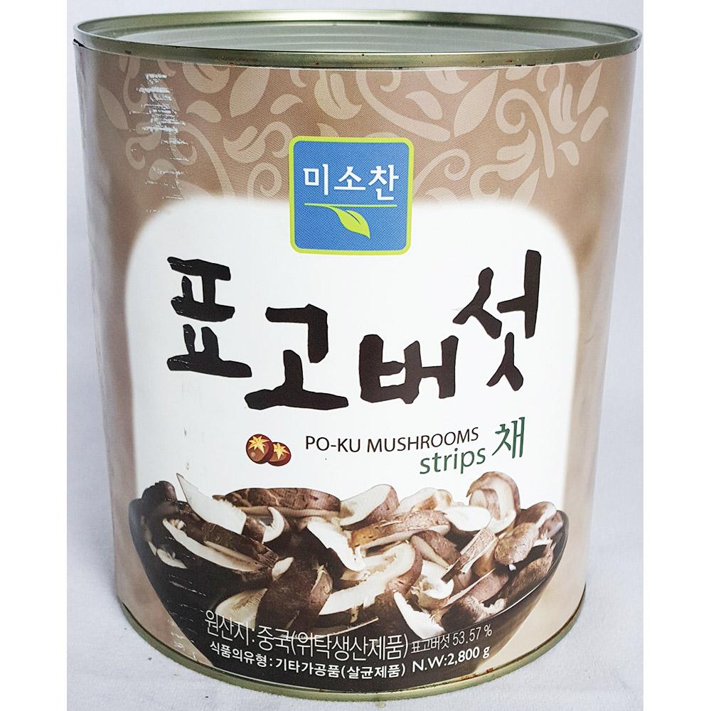 표고버섯채(미소찬 2.8K) 버섯통조림 표고버섯채 버섯캔 중식캔