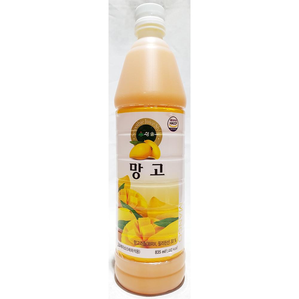 망고원액(청솔 835ml) 과일원액 음료원액 망고베이스 망고가루