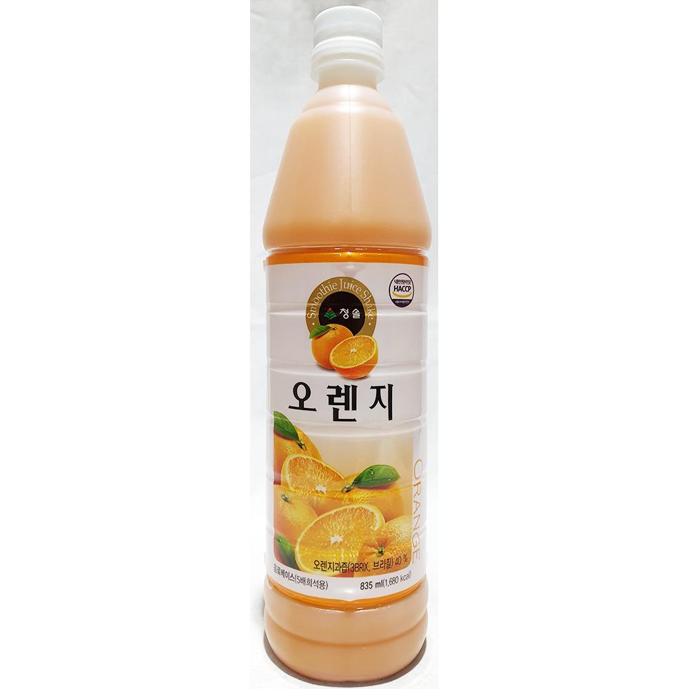 오렌지원액(청솔 835ml) 오렌지농축액 과일원액 음료원액 청솔오렌지원액