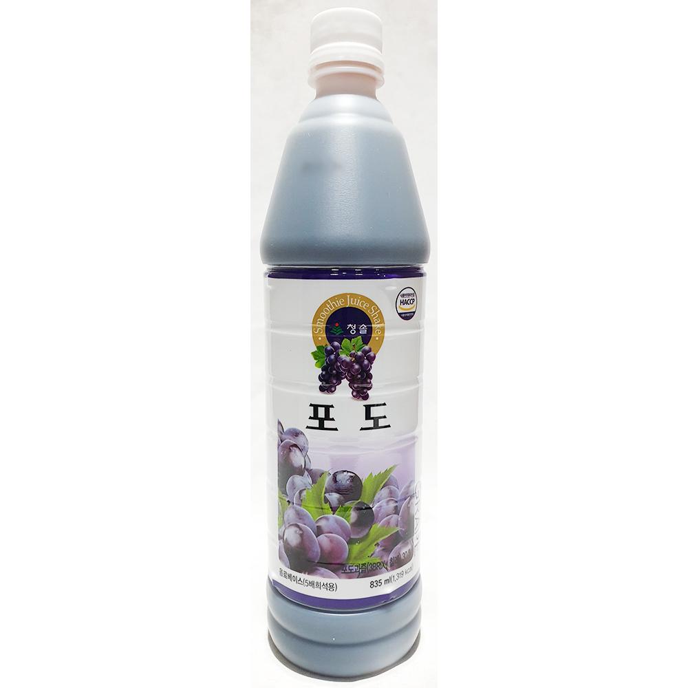포도원액(청솔 835ml) 과일원액 음료원액 포도베이스 포도농축액 청솔포도원액