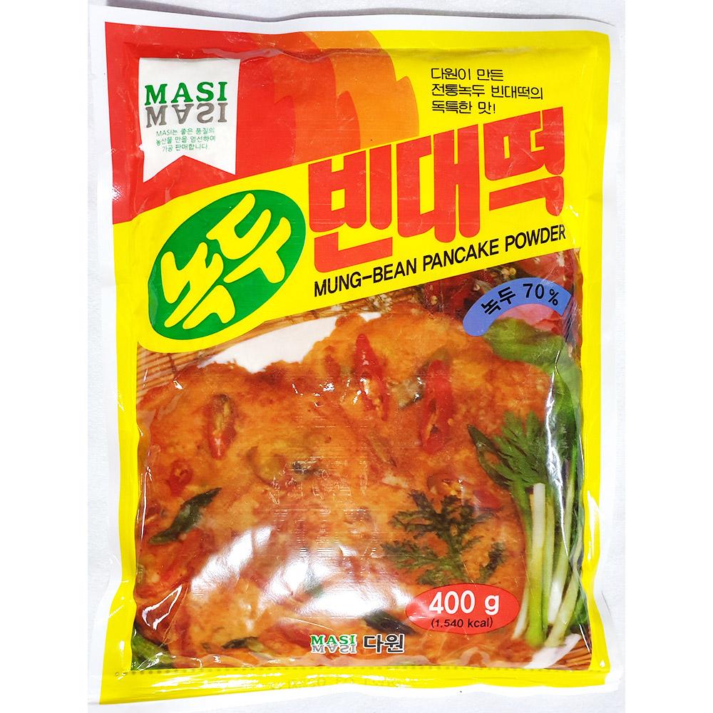 녹두빈대떡가루(다원 400g) 빈대떡가루 다원녹두가루 녹두분말