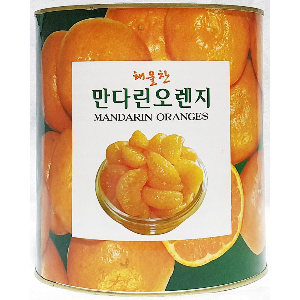 만다린오렌지(삼도 해울찬 3K) 오렌지 해울찬만다린 밀감캔 밀감통조림