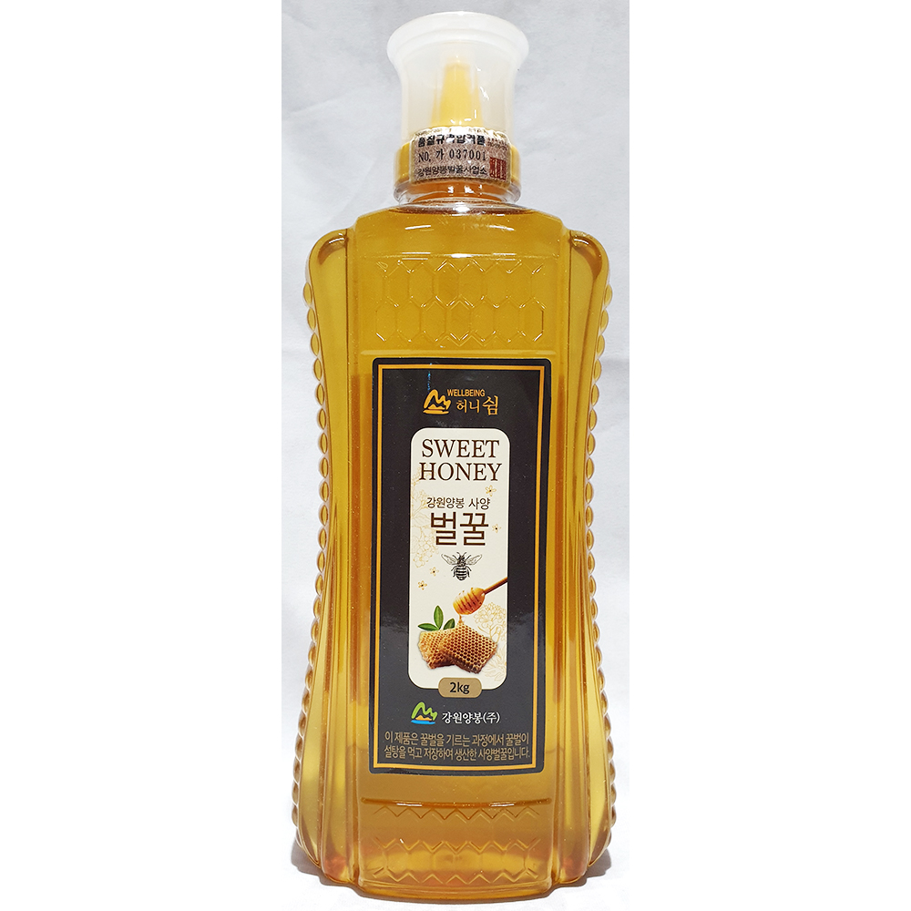 허니쉼사양벌꿀(강원양봉 2K) 꿀 강원양봉벌꿀 벌꿀 꿀차