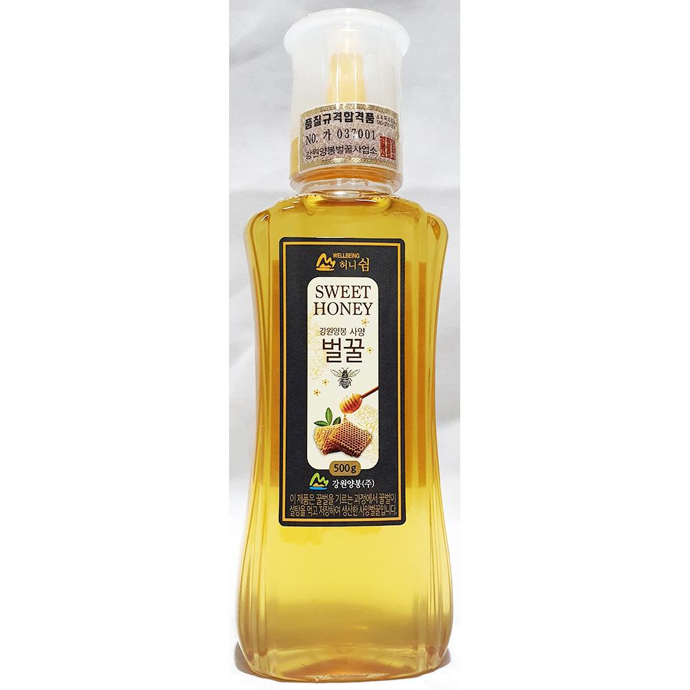 허니쉼사양벌꿀(강원양봉 500g) 꿀 강원양봉벌꿀 벌꿀 꿀차