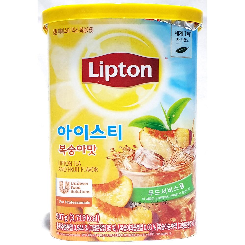 아이스티믹스복숭아맛(립톤 907g) 아이스티 립톤아이스티 복숭아맛아이스티