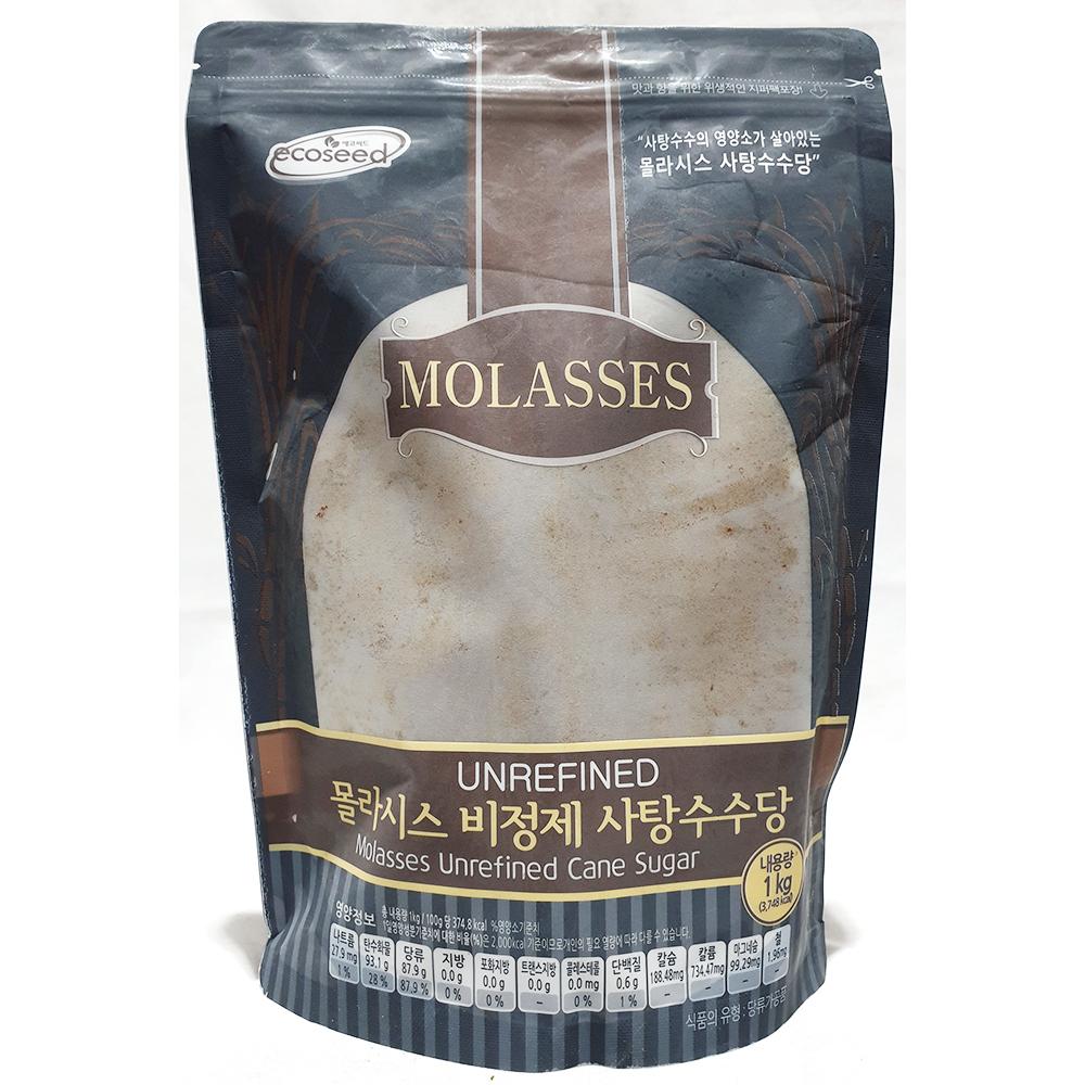 비정제사탕수수당(몰라시스 1K) 비정제사탕수수 비정제원당 비정제설탕 몰라시스사탕수수당