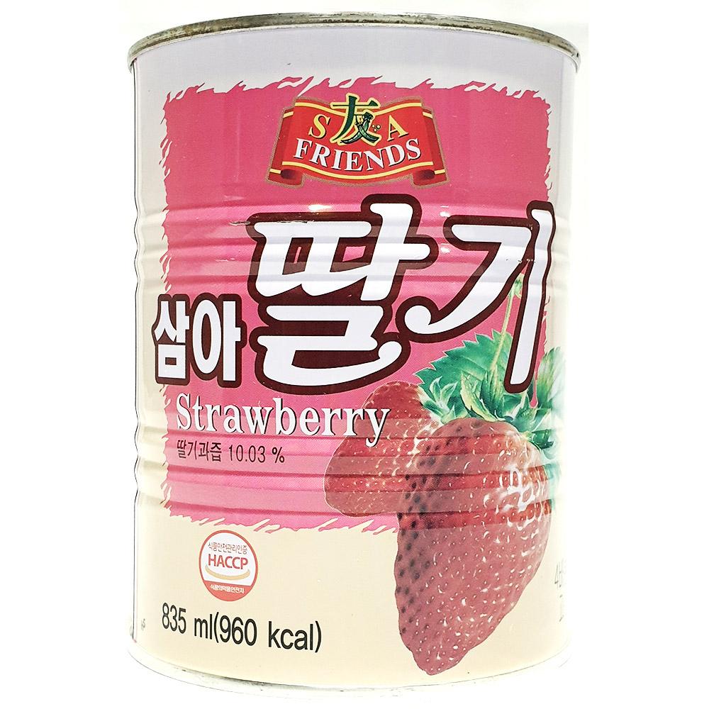 딸기원액(삼아 835ml) 삼아딸기원액 딸기베이스 통조림 과일원액