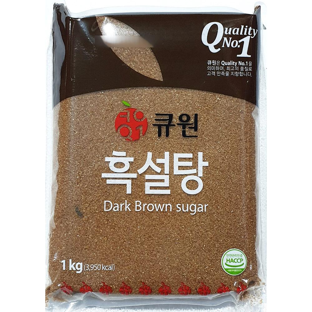 흑설탕(삼양사 큐원 1K) 삼양사흑설탕 큐원흑설탕 검은설탕