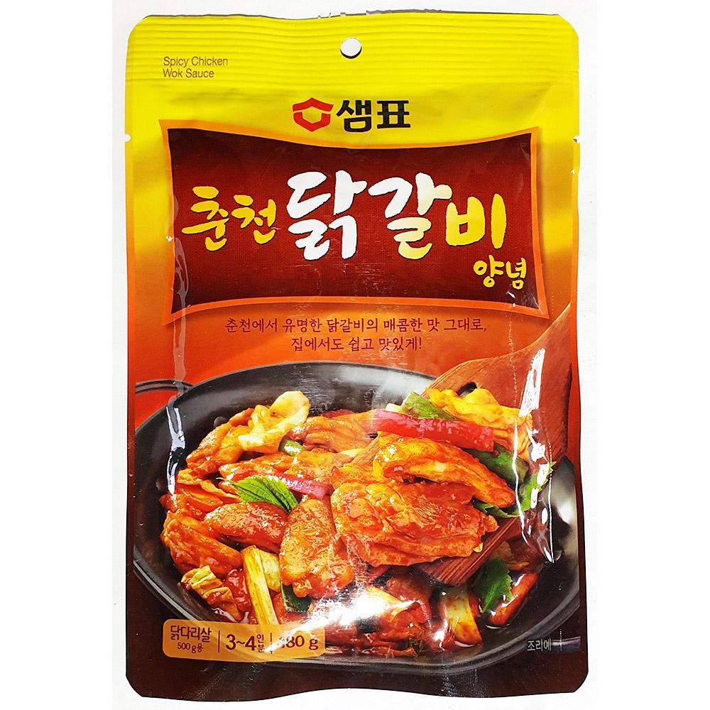 춘천닭갈비양념(샘표 180gx12개) 춘천닭갈비양념 양념닭갈비 샘표닭갈비양념 술안주