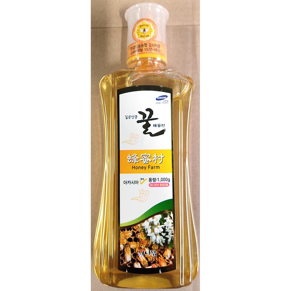 아카시아꿀(튜브 우성 1K) 벌꿀 꿀 우성아카시아꿀
