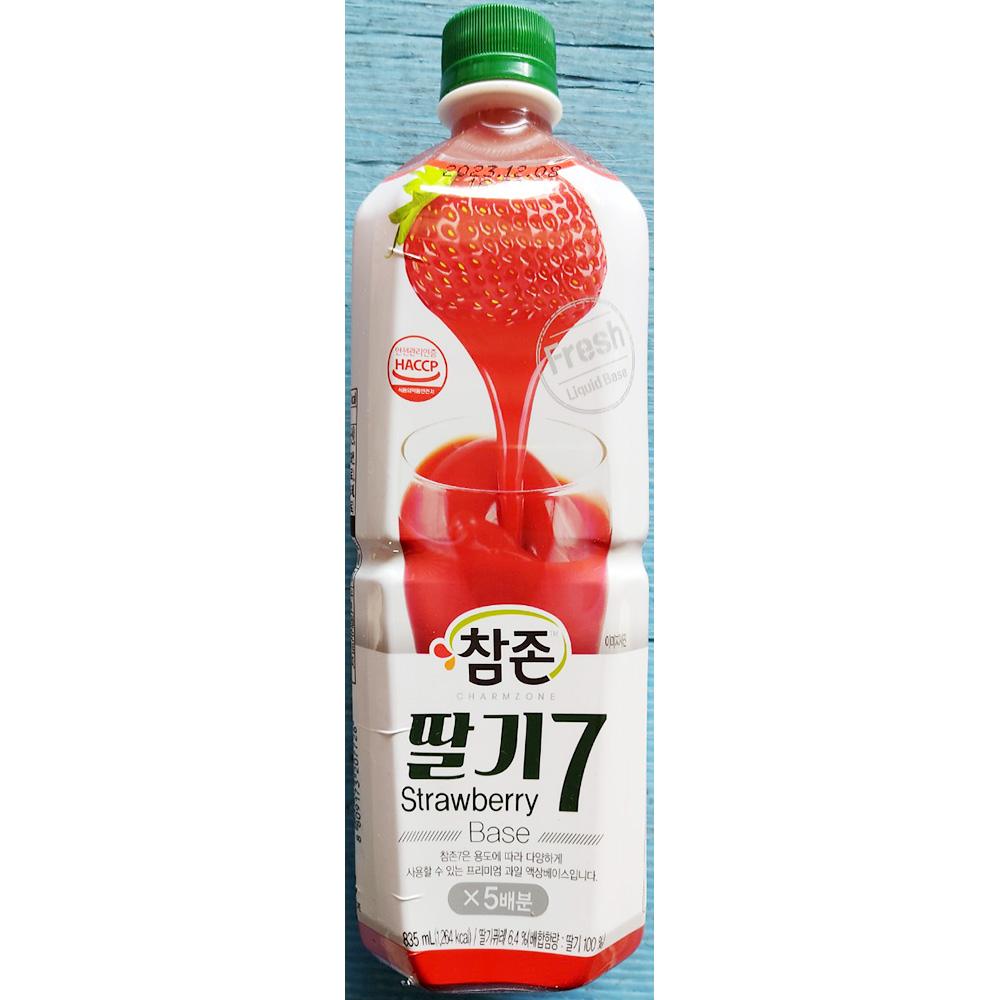 딸기7베이스(참존 835ml) 참존딸기원액 딸기베이스 통조림 과일원액