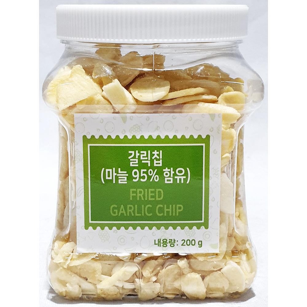 갈릭칩(푸드야 200g) 마늘튀김 마늘과자안주 푸드야갈릭칩