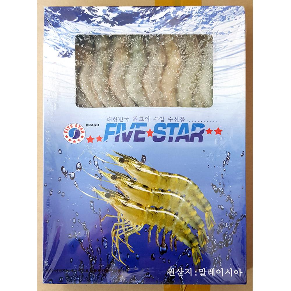 새우(선일 50미 500g)X10 통새우 냉동수산물 수산물 바나메이 새우
