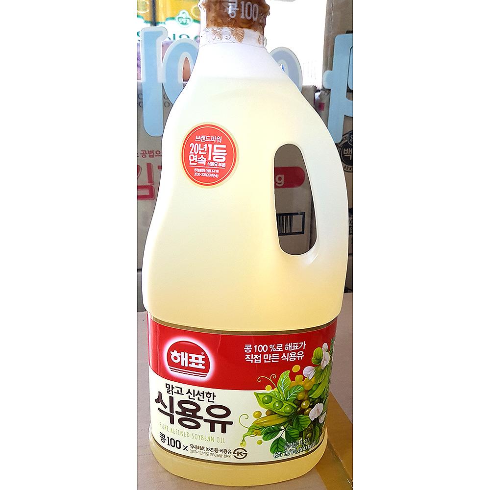 식용유(해표 1.8L) 대두유 콩식용유 오식이 해표식용유
