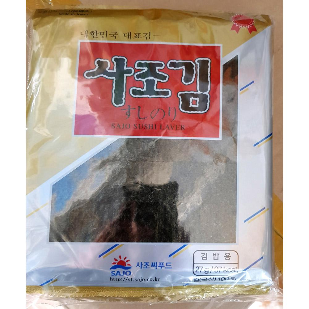 전장김(사조 마끼용김 10매x10) 전장김 마끼용김 사조 전장김 횟집김