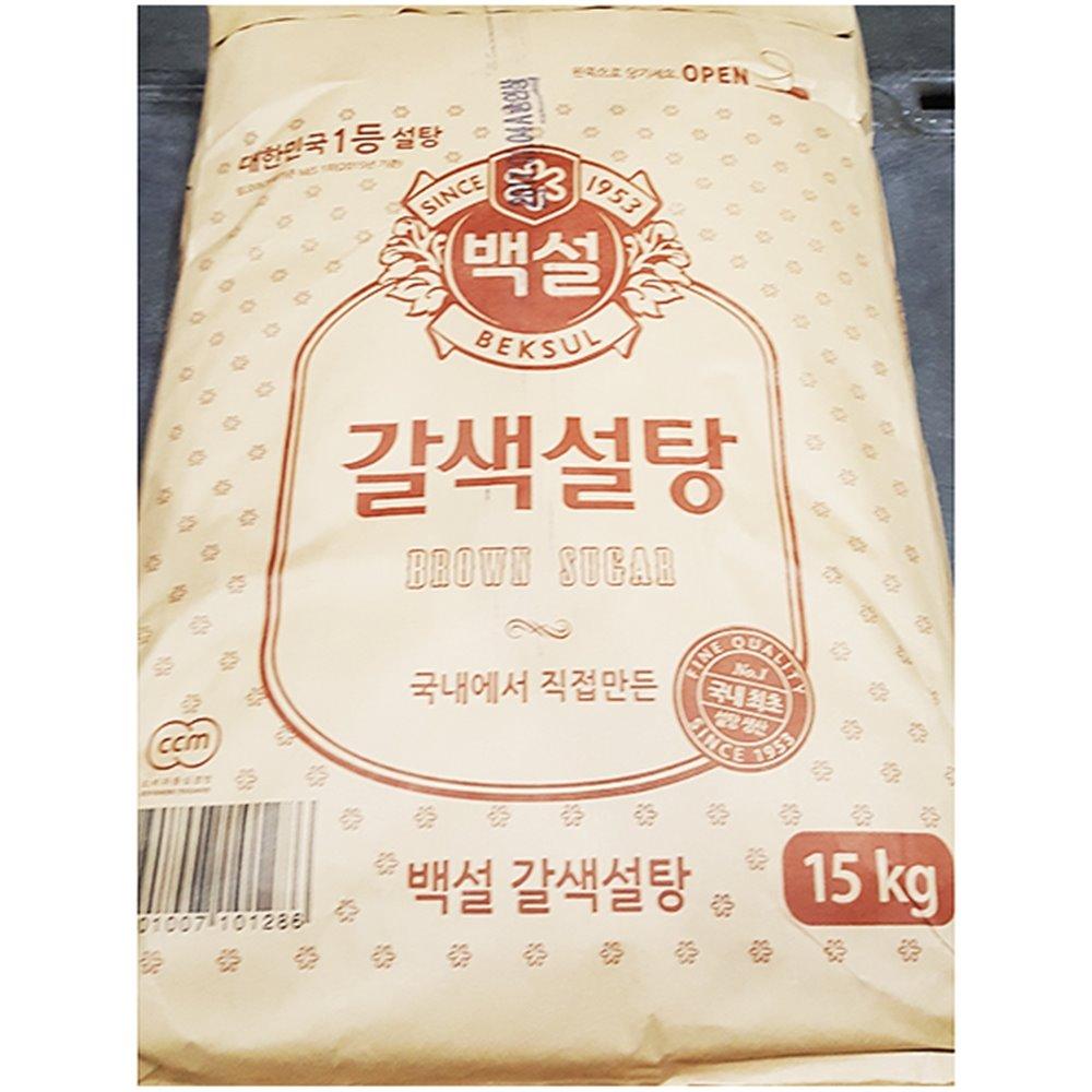 황설탕(백설 15K) 갈색설탕 포대 백설 갈색설탕 매실