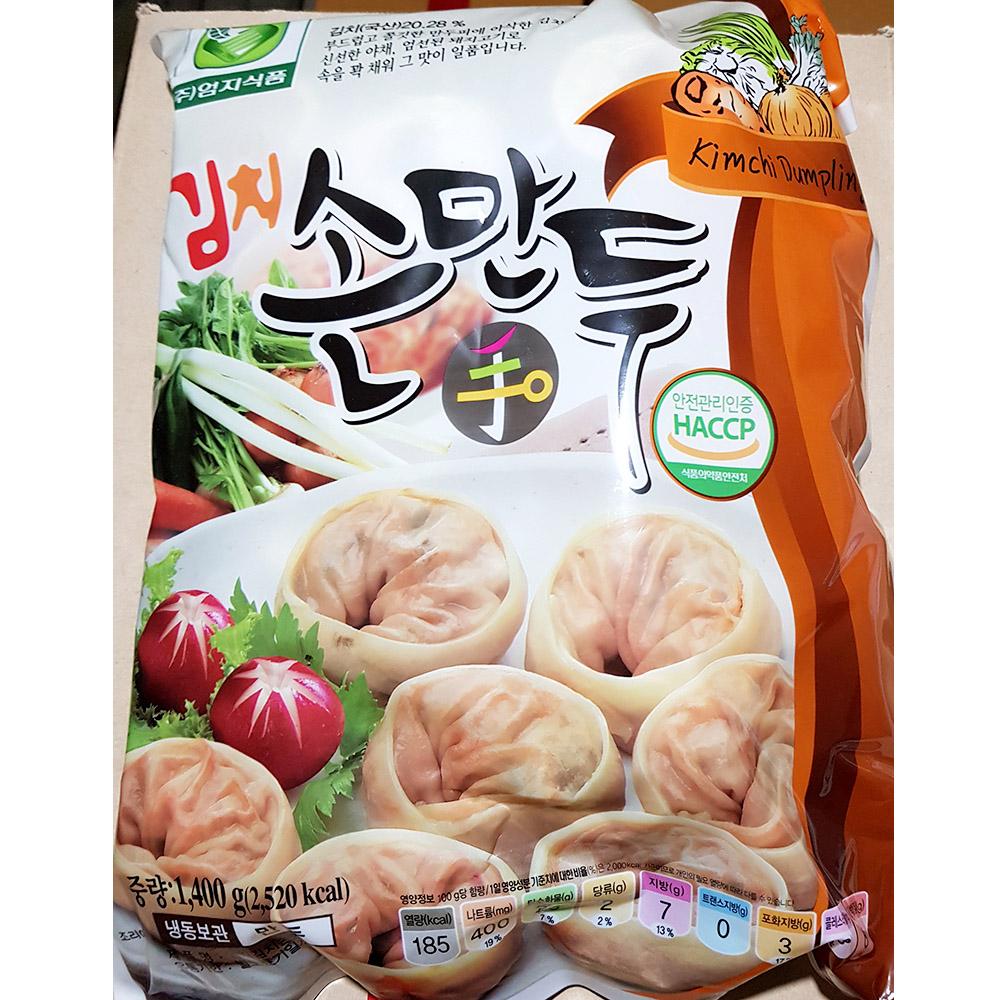 김치손만두(엄지 1.2K)X6 김치손만두 만두 즉석식품 간식 손만두