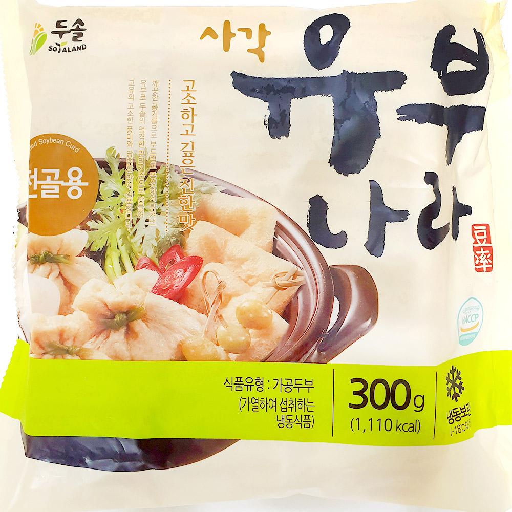 냉동유부(두솔 300g)X10 초밥유부 유부 분식재료 수산물