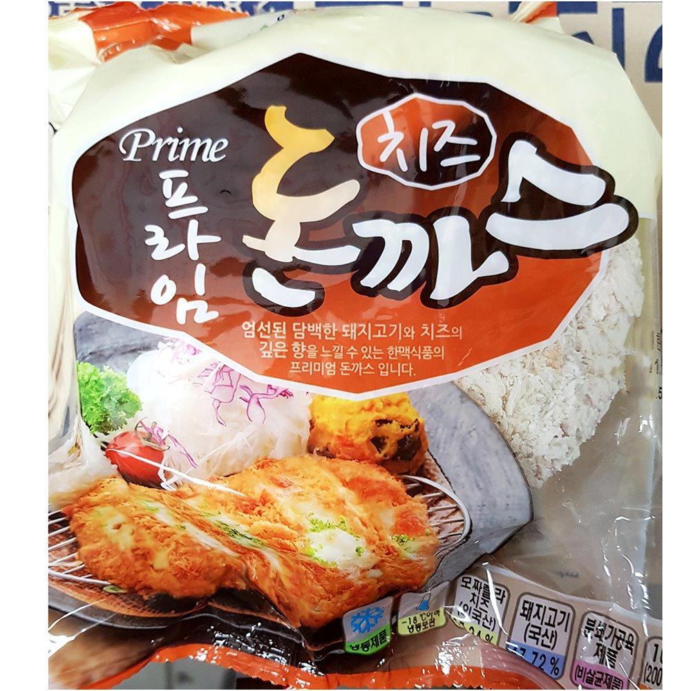 치즈돈까스(한맥 200gx5)X8 한맥 치즈돈까스 돈까스 즉석식품 간식 안주 분식재료 치즈등심돈까스