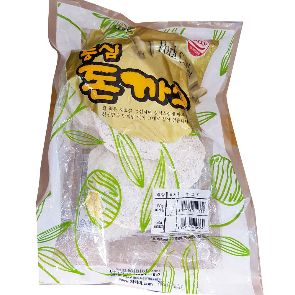 등심돈까스(지키미 130gx10)X6 등심생돈까스 돈까스 즉석식품 간식 안주 분식재료 등심돈까스