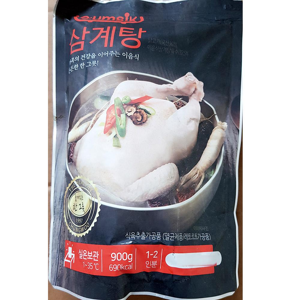 삼계탕(청우 900g)X5 삼게탕 삼개탕 청우삼계탕 삼계탕맛집 간편식 즉석조리