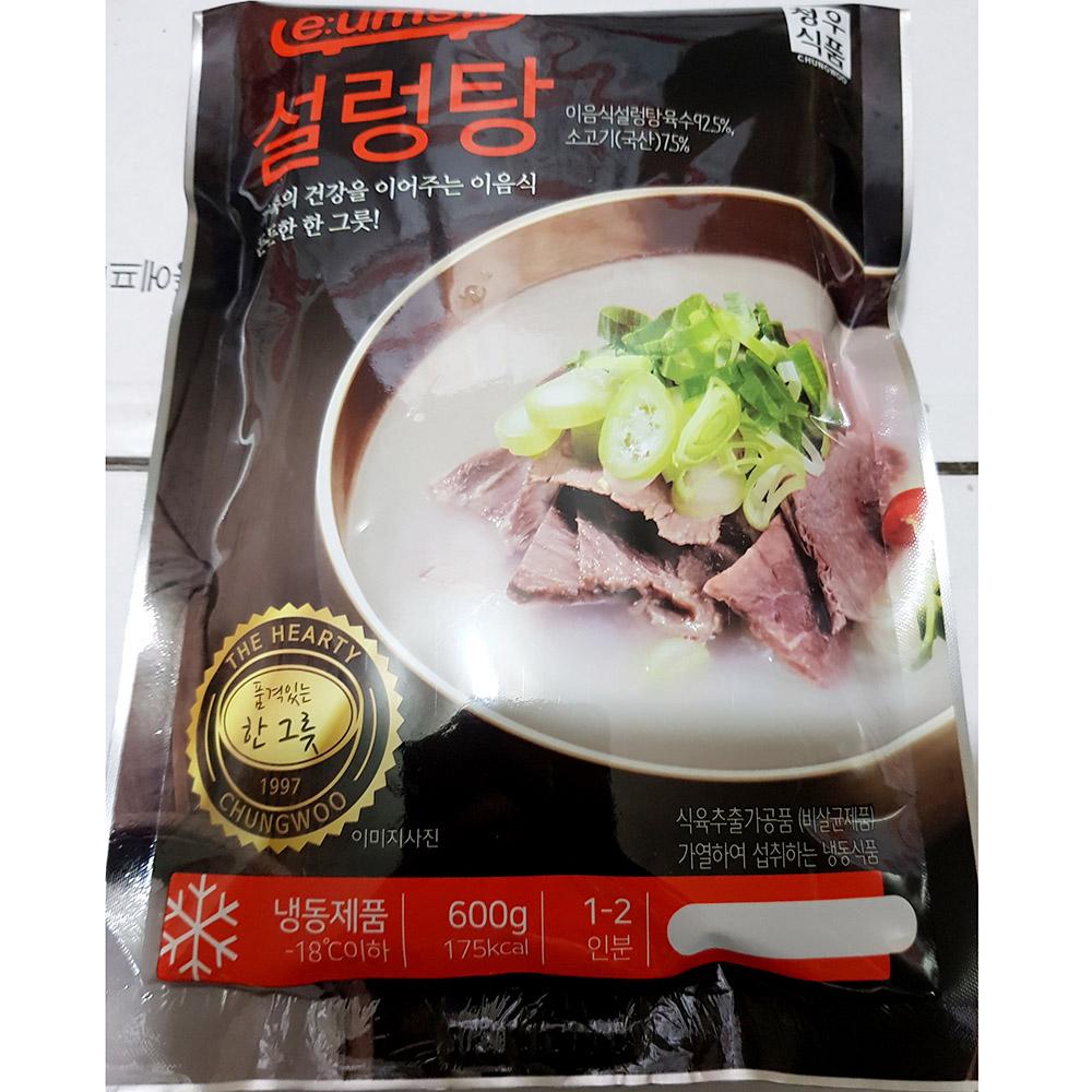 설렁탕(냉동 청우 600g)X5 설렁탕맛집 설렁탕과곰탕 청우설렁탕 간편식 즉석탕 즉석조리