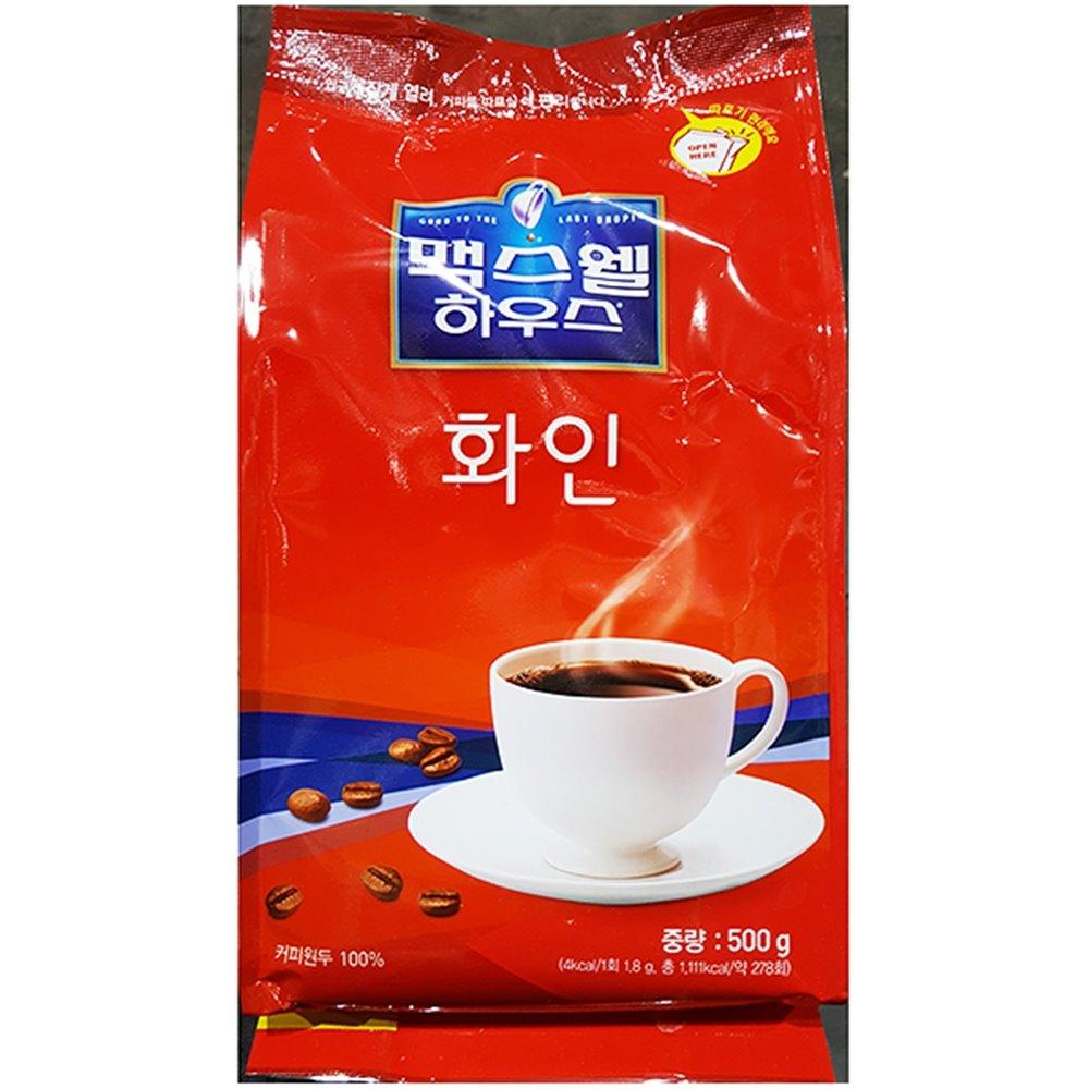 맥스웰커피(화인 500g) 커피 커피가루 봉지커피
