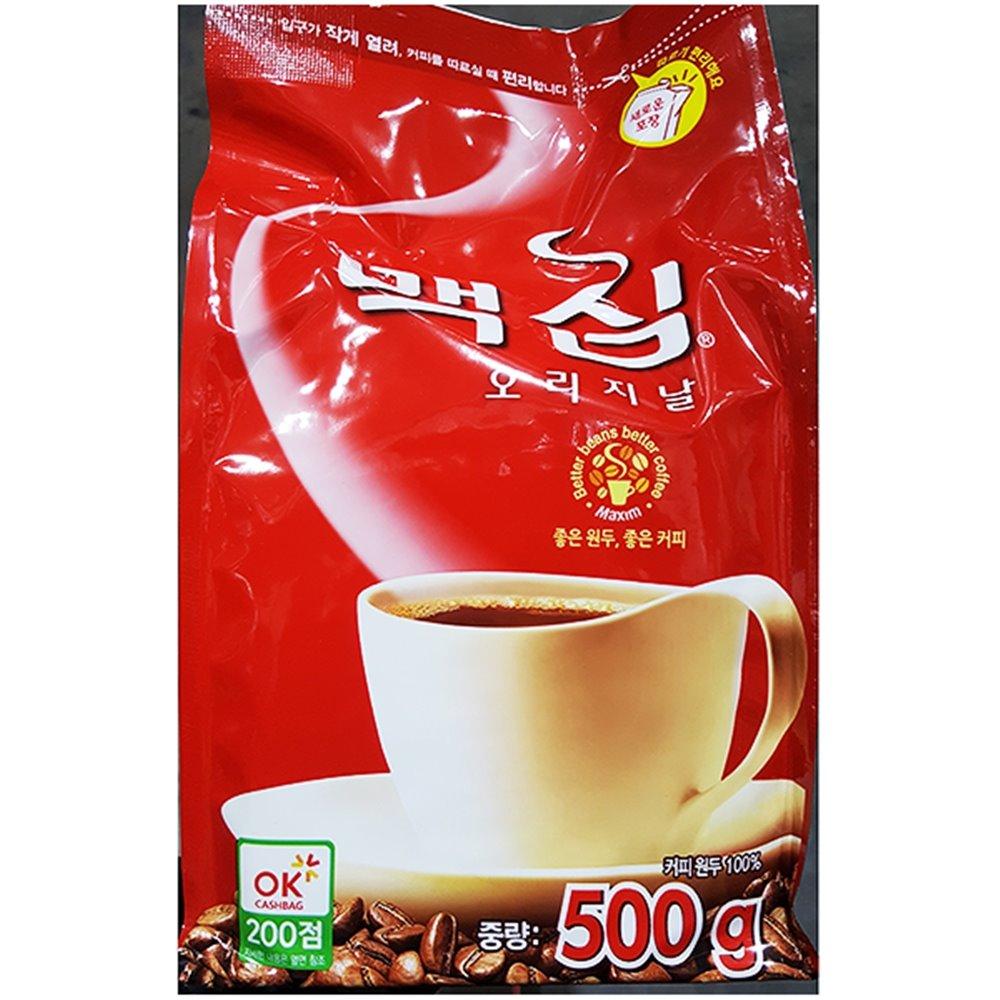맥심커피(오리지날 500g) 커피 커피가루 봉지커피