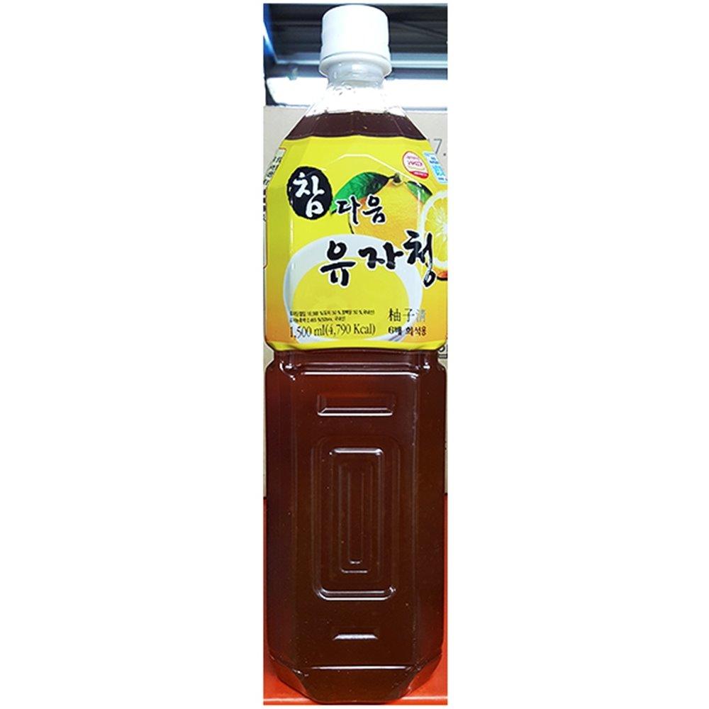 유자청(참다음 1.5L) 음료원액 음료엑기스 유자차