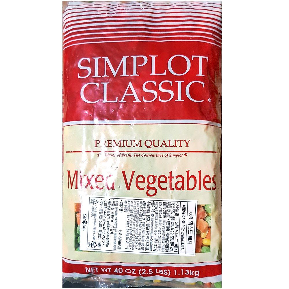 심플 냉동 5종혼합야채 1K 혼합야채 냉동야채 냉동혼합야채
