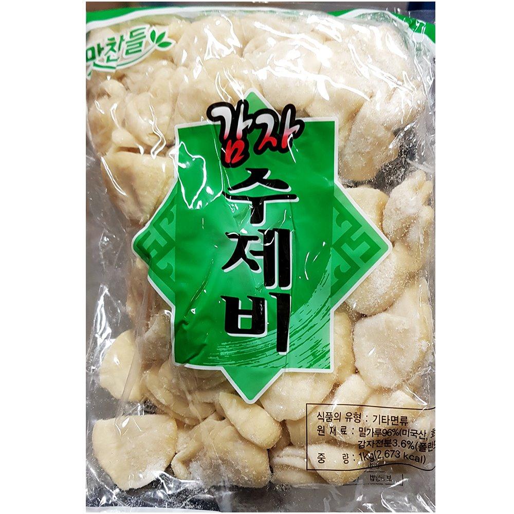 백미 감자수제비 1K 감자수제비 수제비 즉석식품 간식 분식재료