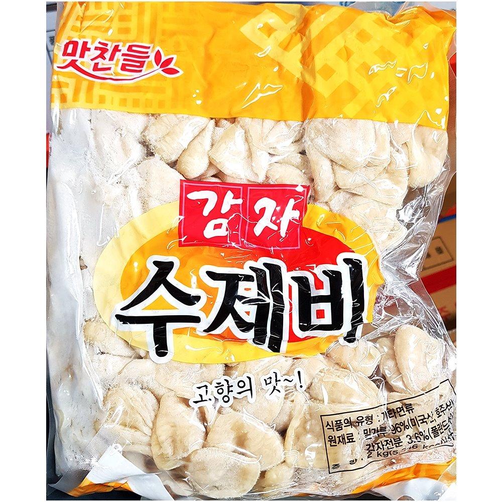 백미 감자수제비 2K 감자수제비 수제비 즉석식품 간식 분식재료