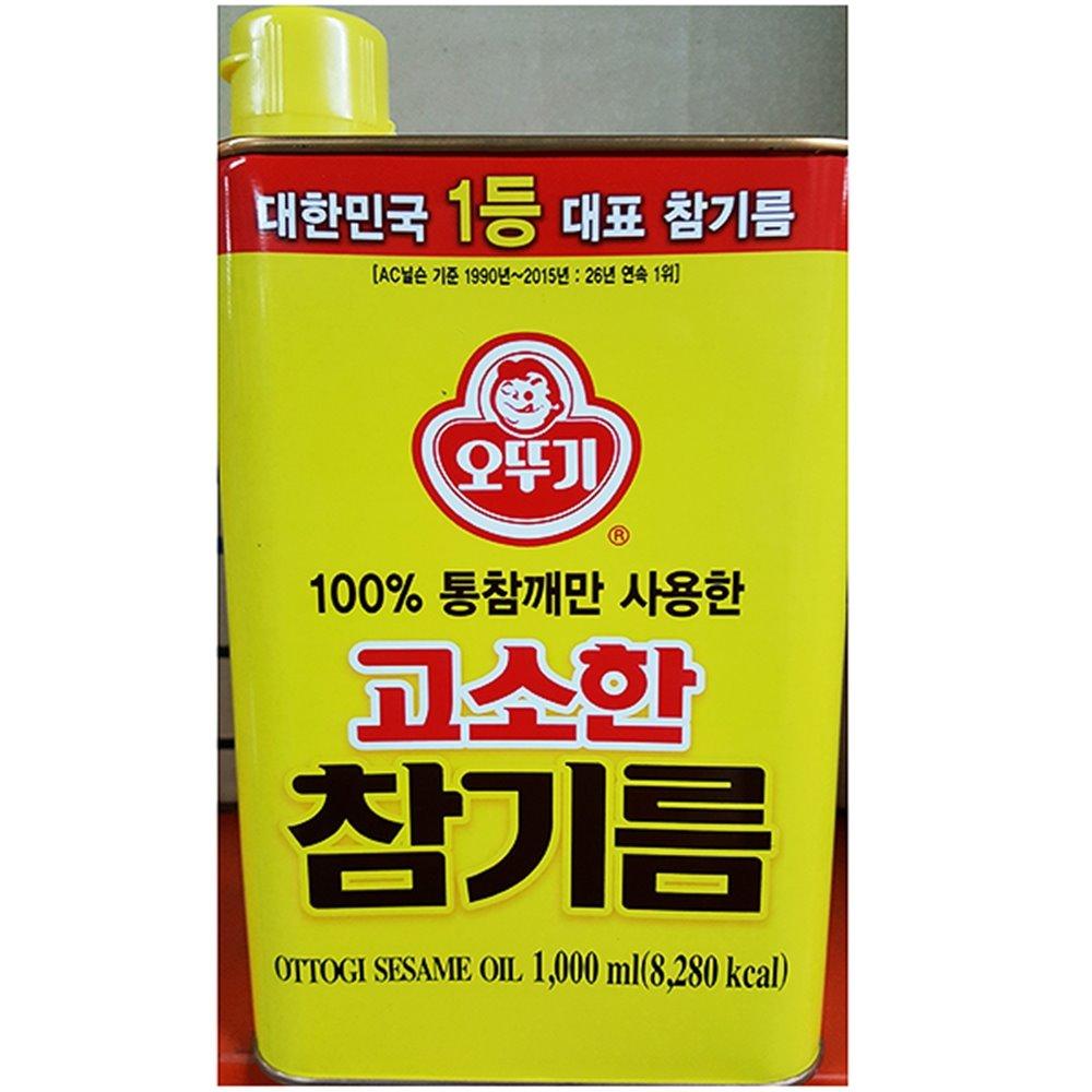 고소한참기름(오뚜기 1L) 참기름 캔