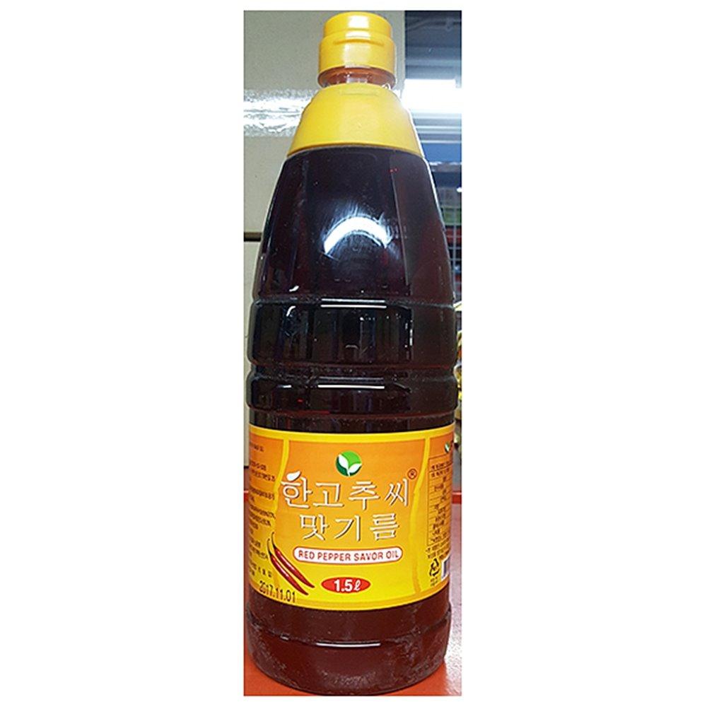 고추맛기름(한 1.5L)X6 고추맛기름 고추기름 고춧기름 고춧맛기름