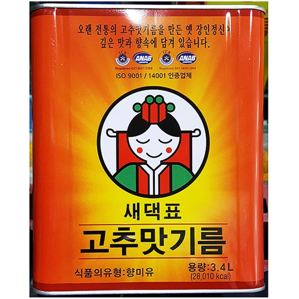 고추맛기름(새댁 3.4L) 고추맛기름 고추기름 고춧기름 고춧맛기름 캔
