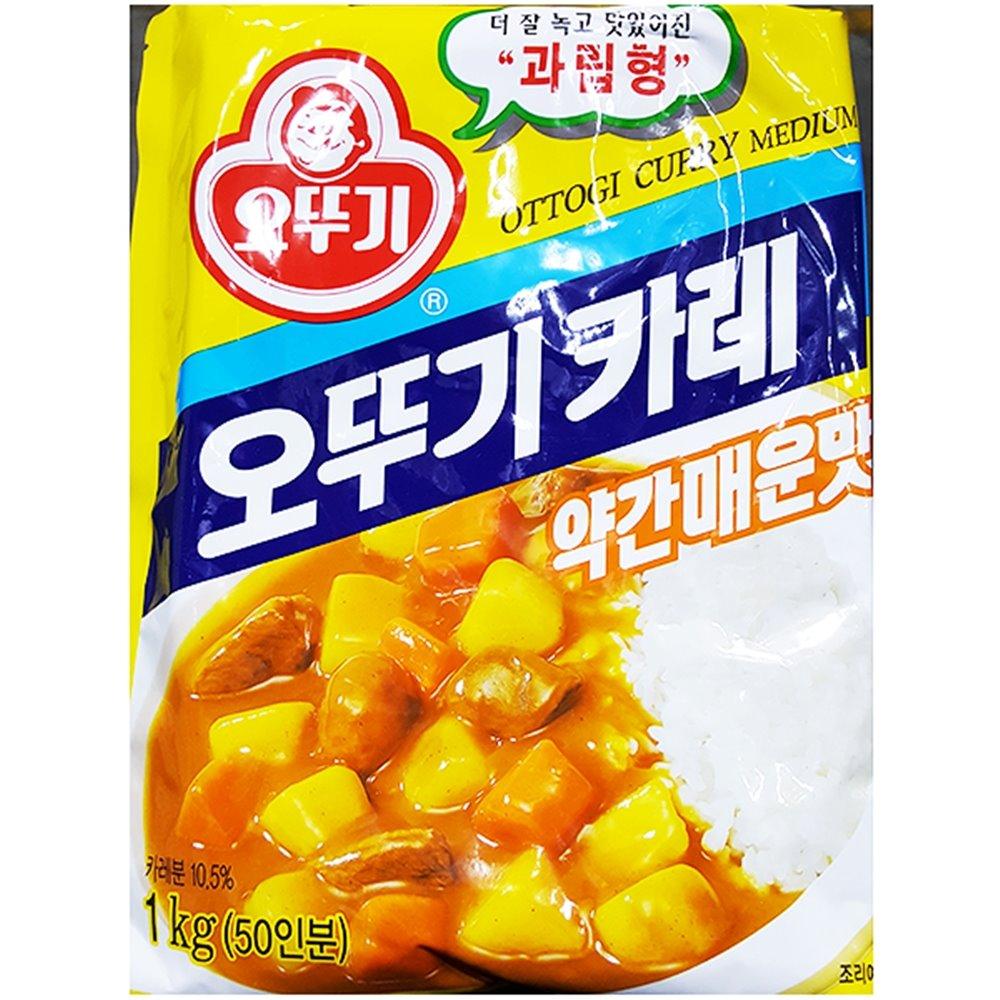 중간맛 카레(오뚜기 1K) 카레 카레가루 약간매운맛카레 과립형
