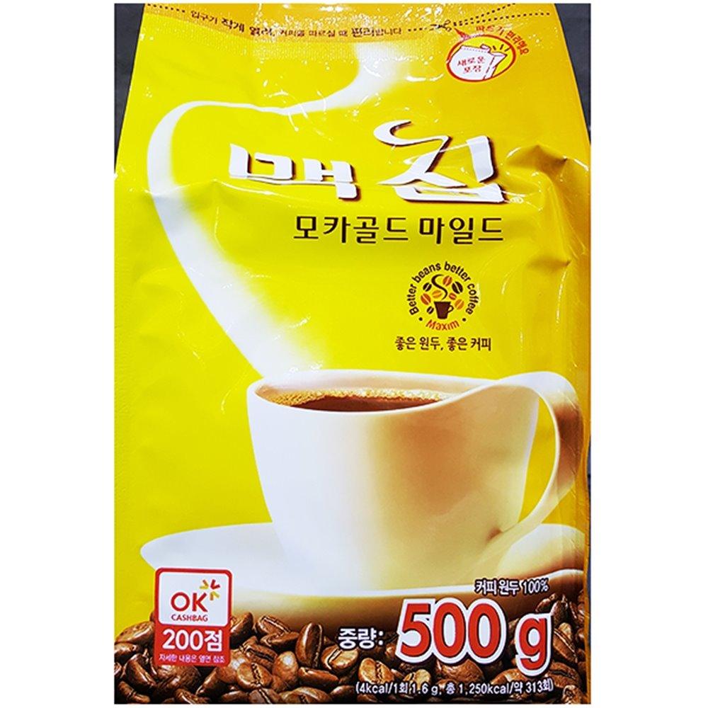 모카골드커피(맥심 500g) 커피 커피가루 봉지커피