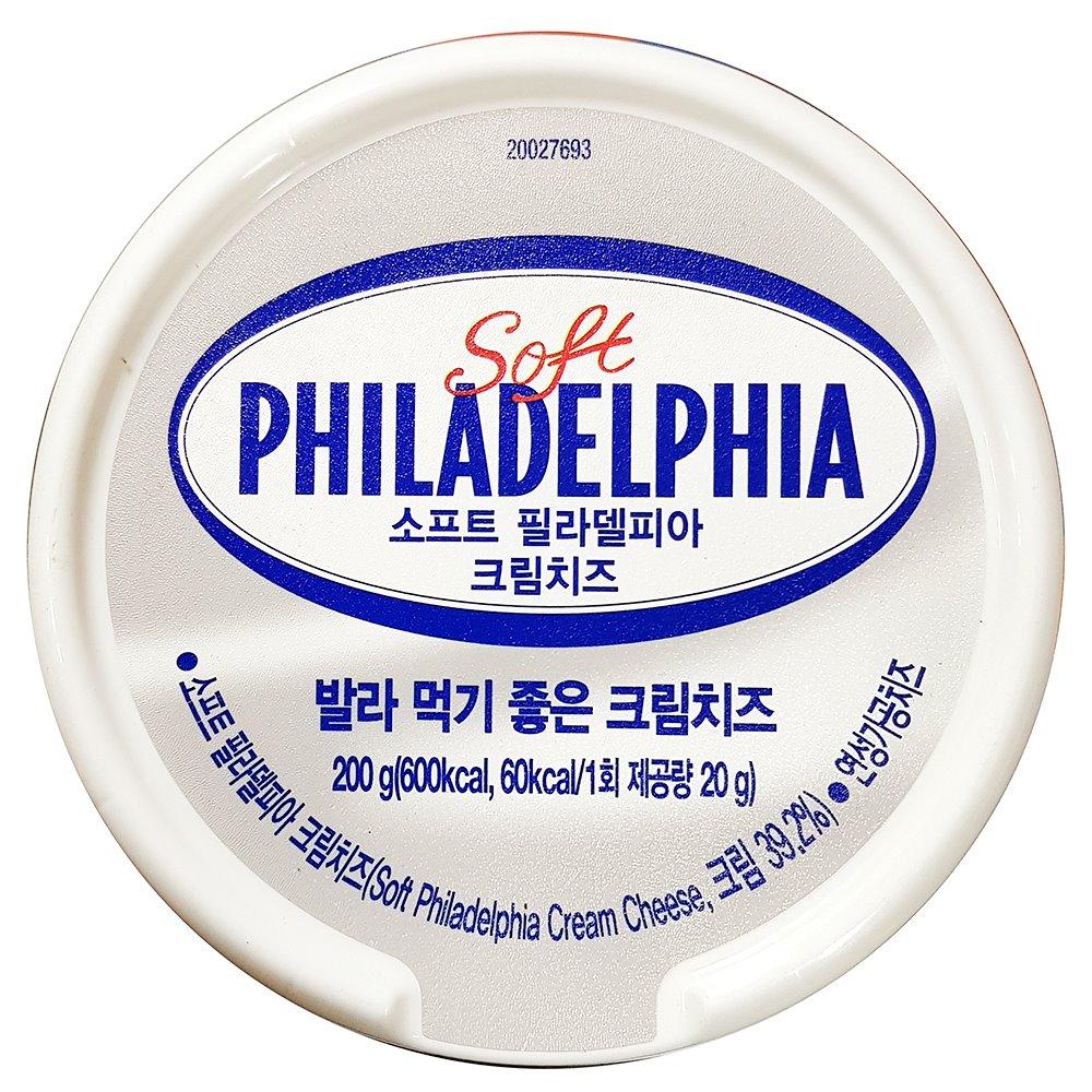 필라델피아 크림치즈 200g 크림치즈 치즈 간식 피자재료 필라델피아 크림