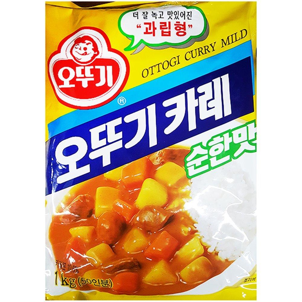 순한맛 카레(오뚜기 1K) 카레 카레가루 순한맛카레 과립형