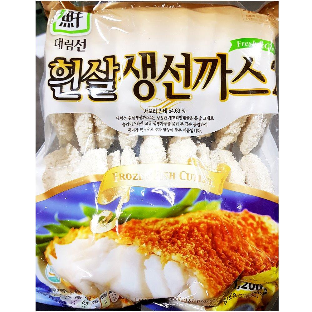 대림 흰살생선까스(60gx20) 흰살생선까스 수산가공 즉석식품 간식 안주 생선까스