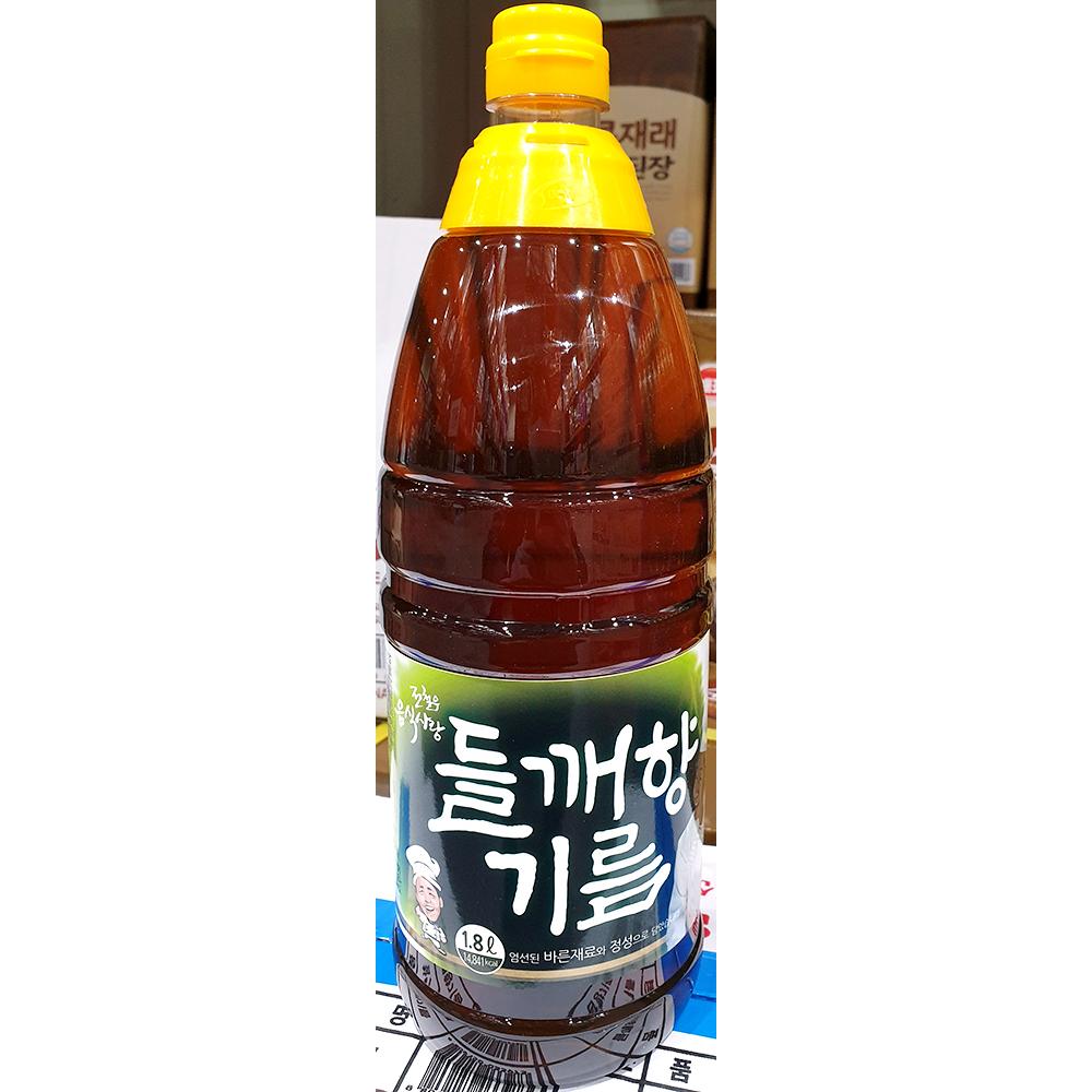 들깨향기름(전철우 1.8L) 들기름 들맛기름 들향기름 들깨향기름 업소용들기름 맛기름