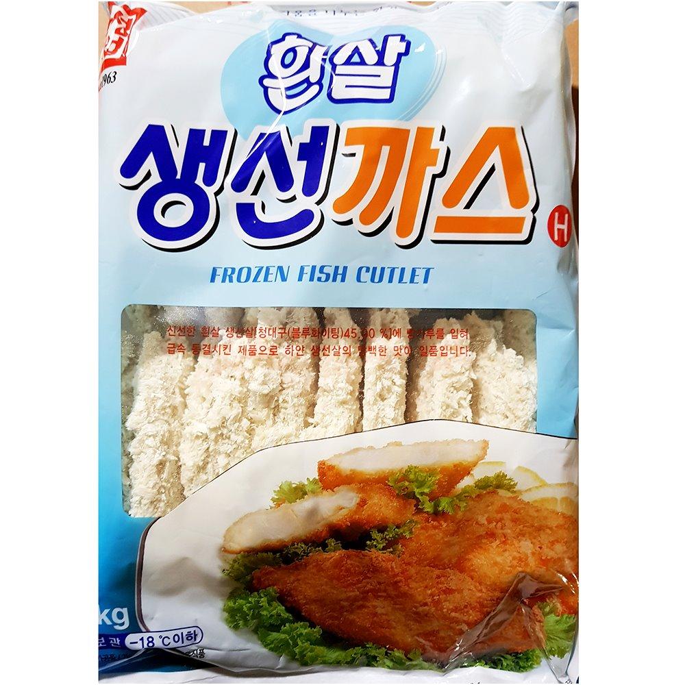 한성 흰살생선까스(60gx20) 흰살생선까스 수산가공 즉석식품 간식 안주 생선까스