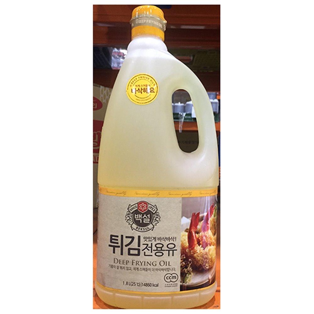 튀김전용 콩식용유(백설 1.8L) 식용유 대두유 콩식용유 백식이